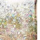 rabbitgoo 3D Vinilos para Cristales Ventanas, Translúcido Lamina Privacidad Decorativos Sin Pegamento Vinilo Adhesivo Aplicables Electristáticamente para Puertas Cocina...