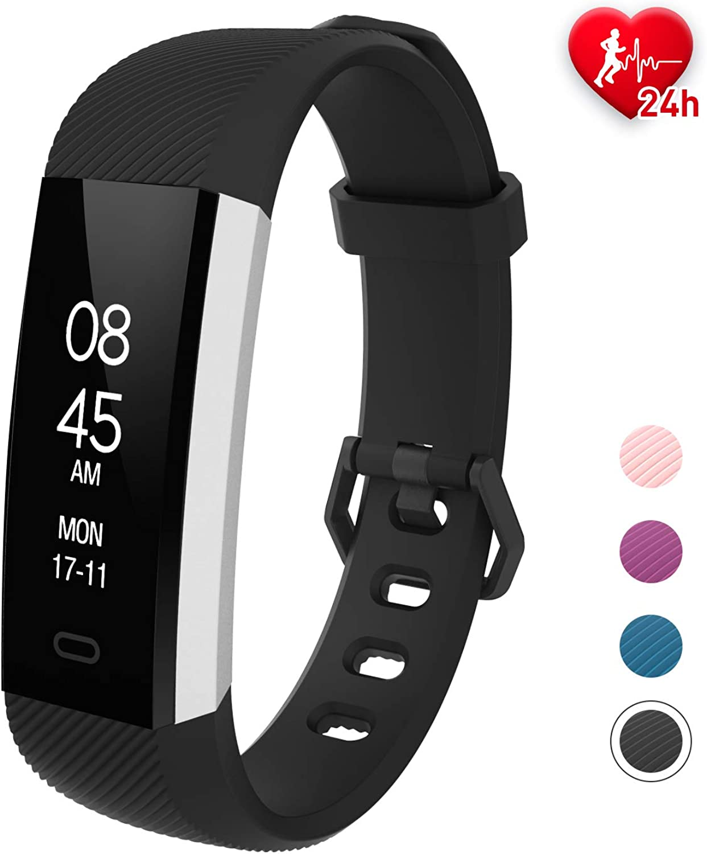 Fitpolo Fitness Tracker Activity Tracker Heart Rate MonitorIP67 Waterproof Smart Bracelet Step CounterSleep MonitorCalorie CounterPedometer Watch Kids Women Men