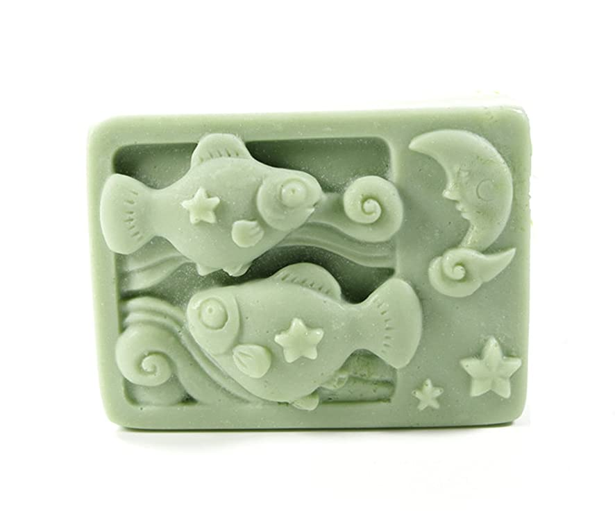 Longzang Constellation Mould Art Silicone Soap Craft DIY Handmade Candle Molds (Pisces) a3344316742