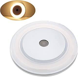 3W RV Boat Touch Ceiling LED Light - DC 12V 2800K Soft White Memory Light Annular Frosted Lens with Stepless Dimmable, Surface Mount, Hidden Fasteners Design with Stainless Steel Screws