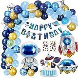 Gafild Decorazioni per Feste di Compleanno, Decorazioni per Feste a Tema Spazio Esterno, Palloncino a Razzo Astronauta Astronauta con Striscione Unico di Buon Compleanno