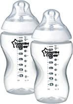 Tommee Tippee Closer to Nature Clear Baby Bottles, 340 ml, 2 Count