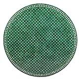 albena Marokko Galerie 15-130 Hamra Marokkanischer Mosaiktisch ø 120cm rund (Hamra: grün/Weiss) - 3