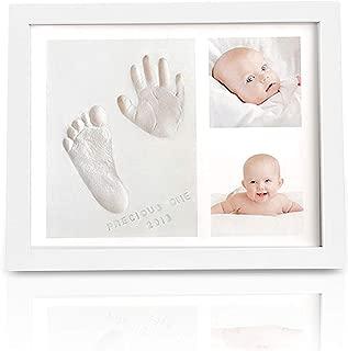 Baby Handprint Footprint Keepsake Kit - Baby Prints Photo Frame for Newborn - Baby Nursery Memory Art Kit Frames - Baby Shower Picture Frames for Baby Registry Boys,Girls - Perfect Christmas Gift