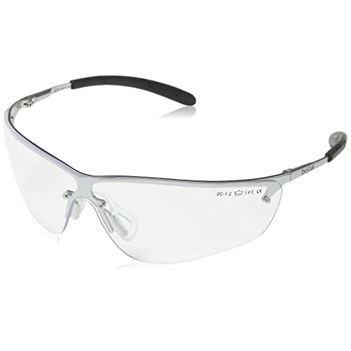 skiing glasses metal frame with shaded smoke lens Bolle Silium safety cycling