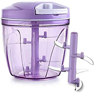 ZooY Smart Handy Multi-Purpose Fruit & Vegetable Cutter Chopper (900ML, Purple, Pack of 1)