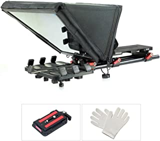 Proaim Universal Professional Teleprompter Kit for iPad/Tablet/Tab/Smartphone/iPhone/DSLR Video Camera Camcorder for Film & Video Production, Online & Social Media Videos | Free Hard Case (P-TP300)