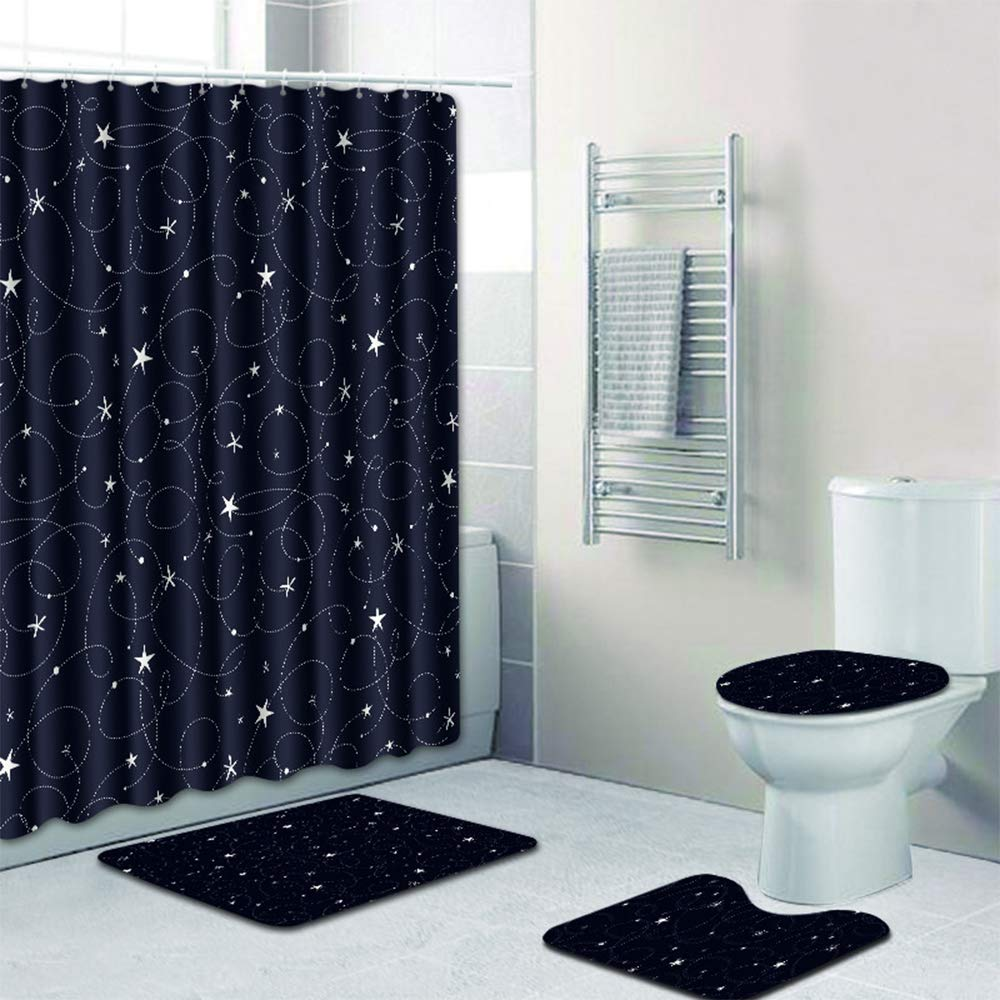 bathroom sets with shower curtain and rugs and accessories amazon co uk rh amazon co uk