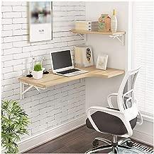 AJZGF Workspace Organizer Folding Table, Wall-Mounted Desk L-Shaped Desk, Corner Computer Desk, (Size : 806040cm)