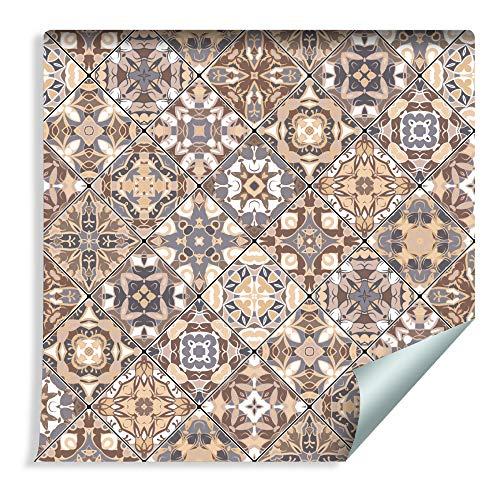 Muralo Fototapete Mosaik 1000 x 53 cm Vliestapete Wand Tapete Bunt Orient Ornament 3D Optik Wohnzimmer Schlafzimmer Moderne Wandbilder XXL Easyinstall Wand Dekoration