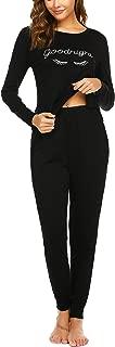 Women's Pajamas Set Long Sleeve Sleepwear Soft Nightwear Pajamas Lounge Sets with Pockets