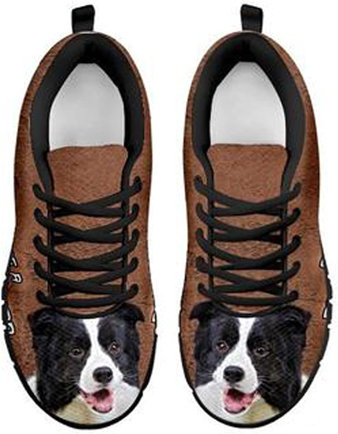 Brand Amazing Border Collie Dog Print Men's Casual Sneakers (7. 5, Black)