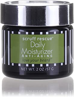 SCRUFF RESCUE Daily Moisturizer, Face Cream for Men, Designed to Soak In & Feed Your Face Organic Rosehip Seed Retinoic Acid for Anti-Aging and Anti Wrinkle Results. Natural Woodsy-Citrus Aroma, 2 oz