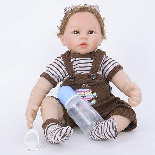 Hongge Reborn Baby Doll,Sieht echt aus Reborn Puppe Baby w st Partner Reborn Puppe Spielzeug 5cm