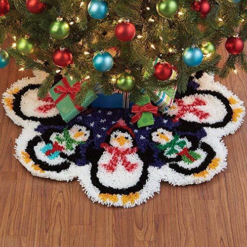 Herrschners Christmas Penguins Tree Skirt Latch Hook Kit