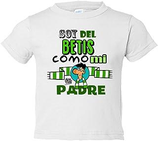095d1830c Camiseta niño Real Betis soy del Betis como mi padre regalo - Blanco, 3-