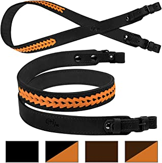 BRONZEDOG Braided Leather Strap Hunting Accessories Adjustable Rifle Sling
