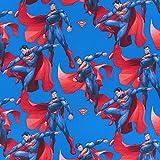Fabulous Fabrics Cretonne Superman 2 – blau — Meterware