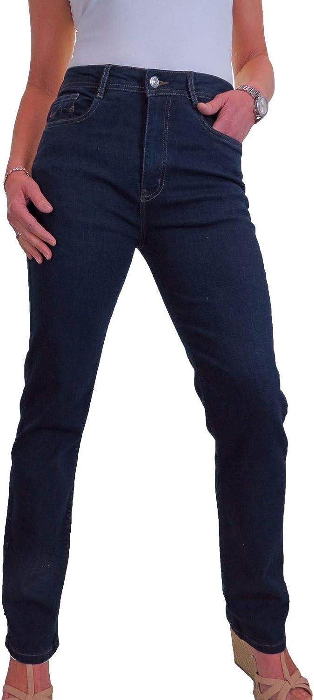 icecoolfashion Womens High Waist Good Stretch Denim Jeans Ladies High Rise Straight Leg Jeans 10-22
