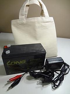 魚探用バッテリー&充電器セット(9000mAh)キャンバス製キャリーバッグ付き