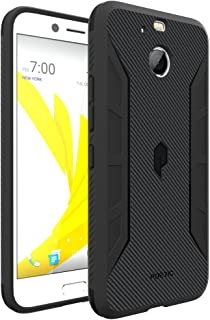 HTC Bolt Case, Poetic Karbon Shield Series-[Tactile Corner Impact Protection] [Flexible] [Carbon Fiber Texture] Stylish Thin Slim Fit Protective TPU Case for HTC Bolt Black