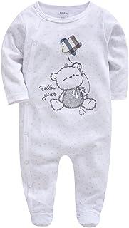Minizone Baby Overalls Jungen Mädchen Strampler Langarm Jumpsuit Baumwolle Spielanzug Outfits 0-12 Monate