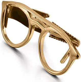 Gold Tie Clip Optical Glasses Glass Biker Spader Wedding Bar Clasp Optometrist