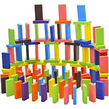 Amisha Gift Gallery® 120 pcs Colorful Wooden Domino Set for Kid