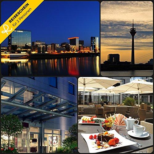 Reiseschein - 3 Tage in ein 4 Sterne Secret Hotel in Düsseldorf - Gutschein Kurzreise Kurzurlaub Reise Geschenk