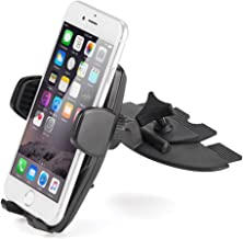 iKross Touch-Lock Universal CD Insert Slot Smartphone Cradle Mount Stand Phone Holder for iPhone X, 8 Plus, 8 iPhone 7, 7 Plus, Samsung Galaxy Note 8, Galaxy S8, S8+ and More