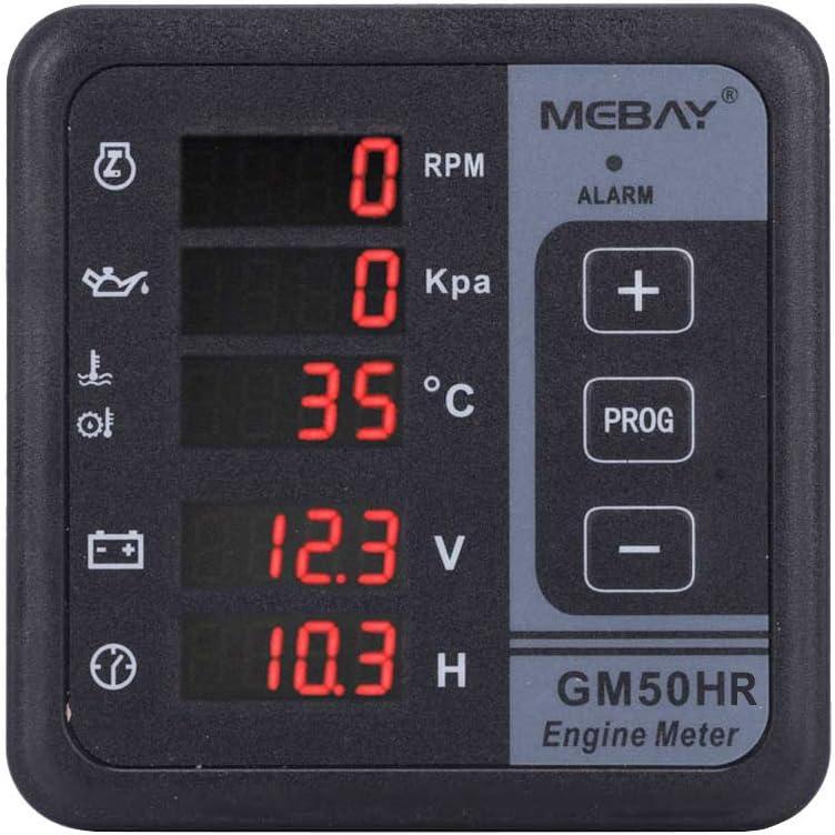 GM50H Generator Digital Multi-function Meter Diesel Engine Monitor Control Panel
