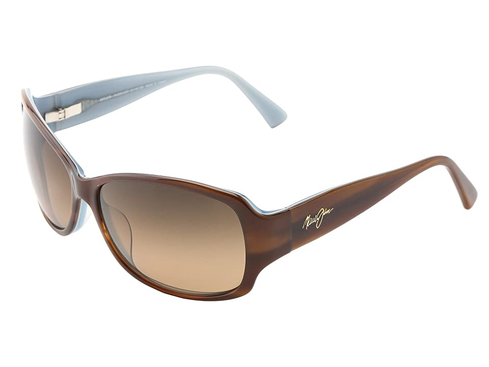 Maui Jim Nalani (Tortoise w/ White and Blue/HCL Bronze) Polarized Sport Sunglasses