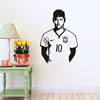Fangeplus(TM) DIY Removable Super Star Neymar Famous Football Player Art Mural Vinyl Waterproof