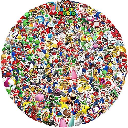 200 pegatinas de Super Mario, resistentes al agua, de vinilo, dibujos animados, para portátiles, coches, guitarras, monopatines, niños, adolescentes