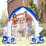 DXQDXQ Verano Gigante Spray de Agua Inflable Arcos de Spray de Agua Forma de Tiburón para Niños Aerosol de Verano al Aire Libre Cool Play Fun Toy para Rociar