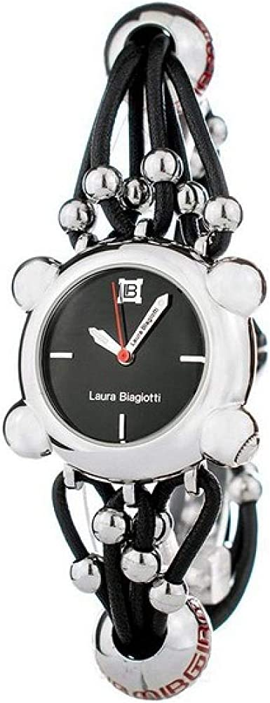 Laura biagiotti orologio da donna con cinturino in pelle e cassa in acciaio LB0056L-01