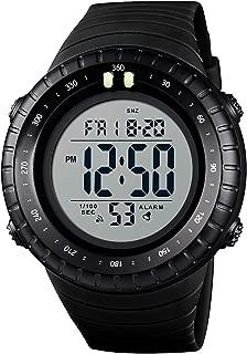 PASOY Men Digital Multifunction Backlight Watch Waterproof Black Rubber Band Alarm Date Outdoor Watch