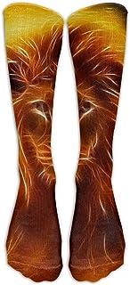 NotApplicable, Not Applicable Calf Sock Calcetines De León De Fuego Unisex Calcetines De Compresión Calcetines De Tubo Atlético Calcetines Altos Calcetines De Hombre Hombres Mujeres Cómodo 50 Cm