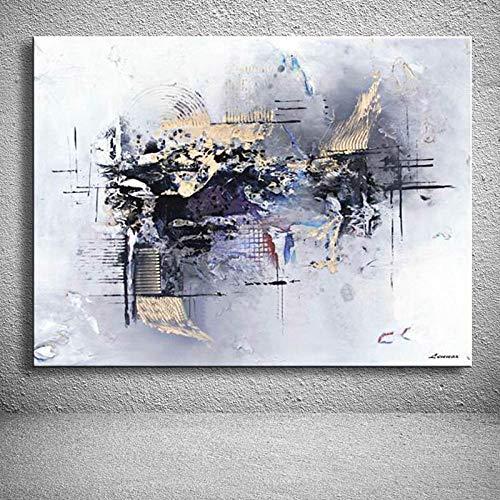 ZHXMI Handgemachtes Ölgemälde auf Leinwand modern 100% Best Art Abstraktes Ölgemälde original direkt von artis@90x150cm
