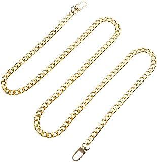2pcs 120cm Chic Metal Bag Chain Shoulder Bag Strap Useful Detachable Belt Metal Strap for Women Ladies Girls Silver