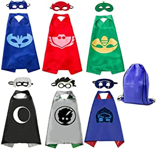 RioRand Kids Costumes 6 Packs,Dress Up Capes Set Birthday Party Supplies for Boys Girls (6pcs)