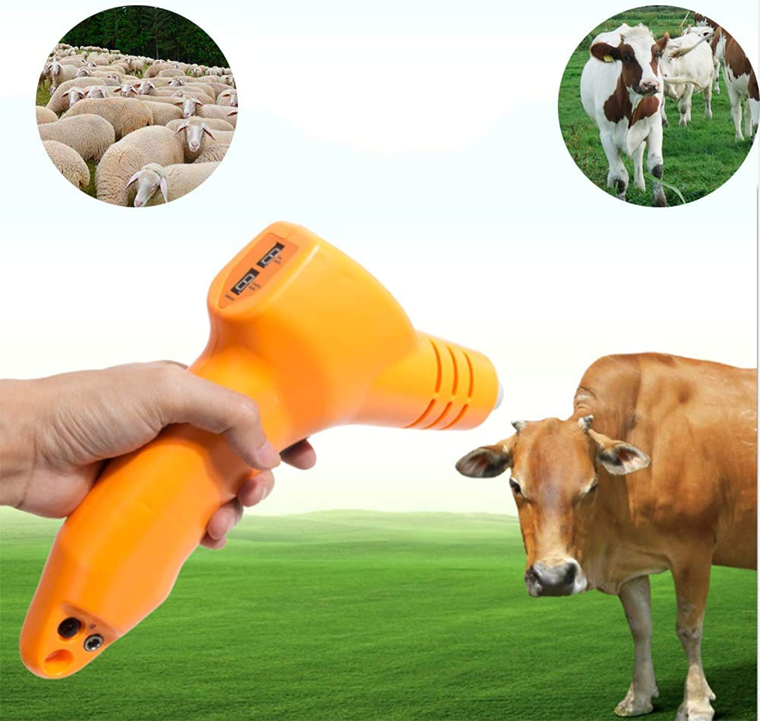 Butane Animal Dehorner Kit Fast Heating Cattle Head Airgun Type Calf Chamfer Electric Iron Ceramic Bloodless Angle Devices for Lamb Calf