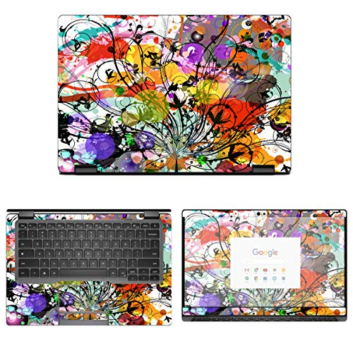 Decalrus - Protective Decal Bamboo Skin Sticker for Dell Latitude 5300 2-in-1 Chromebook Enterprise (13.3' Screen) case Cover wrap DEchrmbk2in1_5300-30