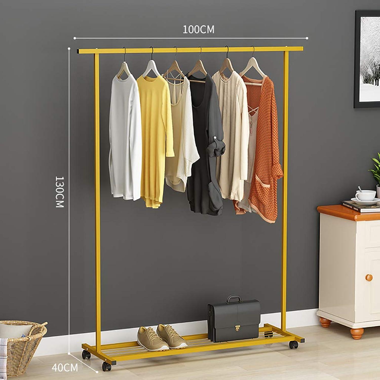 DQMSB Coat Rack Simple greenical Hanging Clothes Rack Modern Simple Single Rod Hanger Coat Racks (color   G)