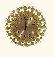 ساعة حائط أنيقة مزخرفة لون ذهبي