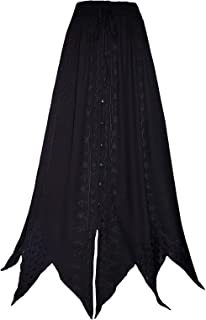 Zipfel Rock pizzo lungo nero Goth Hexe Wicca Emo XS S M L XL > 6XL 32 34 36 38 40 42 44 46 48 50 52 54 56 58 60 62