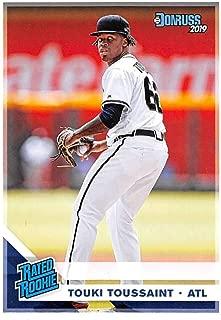 2019 Donruss #50 Touki Toussaint Atlanta Braves Rated Rookie Baseball Card
