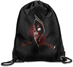 Creepypasta Jeff The Killer Watching You Drawstring Backpack Bag