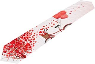 ALAZA U Life Valentines Day Heart Love You Summer Spring Wedding Table Runners Cloth