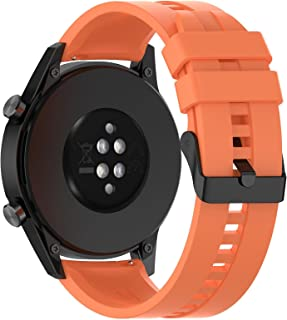 ORANGE Silicon Strap 22mm Black Buckle Suitable for any watch with 22mm Strap width